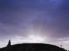 (xbacksteinx) Tags: morning light summer 120 film clouds analog sunrise mood moody rangefinder september bronica medium format rays ektar c41 65mm rf645 colornegativefilm kodakektar100 zenzanonrf65mm