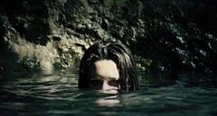 (Amber Lantz) Tags: portrait nature water girl swimming canon dark 350d creepy mysterious 55250mm