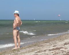 Ostsee Chic (pvanorden (back home)) Tags: canoneos7d canonef70200mmf28lusm ostsee balticsea beach summer fashion speedo