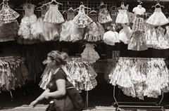 Party dresses (efo) Tags: kodak medalistii 6x9 fleamarket sanjose mercado dresses shopping film
