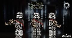 Captain Phasma (McLovin1309) Tags: star wars force awakens captain phasma gwendoline christie stormtrooper first order custom lego minifigure sculpt paint chrome brickarms e11 foe11