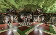 Stockholm Metro - Art 07 (jerry_lake) Tags: art underground metro sweden stockholm f56 scandi tunnelbana kungstradgarden iso2000 125sec tbahn