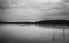 Floating (Hampus Eriksson) Tags: landscape blackandwhite bw nature water apocalyps zpmbie lake contrast moody night nikon floating