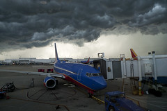 Chicago thunder storm brewing (tcd123usa) Tags: flyingconditiions weather thunderstorm electricalstorm midwayairport chicagoairport