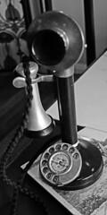 Telephone, Winterbourne House, Birmingham UK (photobobuk - Robert Jones) Tags: uk england white black monochrome birmingham university telephone winterbournehouse