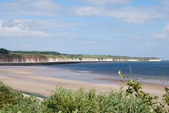 Cliffs, sand and sea ...... (Halliwell_Michael ## More off than on this week #) Tags: eastyorkshire nikond40x 2016 bridlington northsea beach coastline cliffs flamborough landscapes coast seaside sand sea