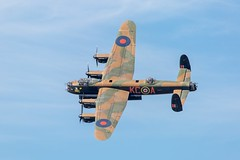 Lancaster PA474 at RAF Coningsby (deltic17) Tags: plane memorial display aircraft sunny lincolnshire lancaster ww2 remembrance bomber raf thumper avro battleofbritain avrolancaster lancasterbomber bbmf pa474 bombercommand rafconingsby bombercounty