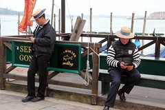 Business Is Slack Today (Alan1954) Tags: venice italy holiday 2016 gondoliers men candid