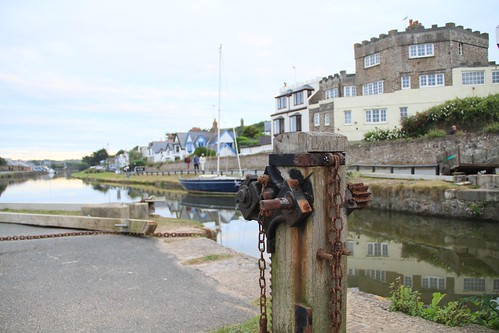 On the canal at Bude Cornwall