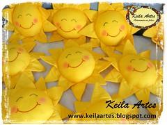 ALMOFADAS SOL (KEILARTES) Tags: sunshine nuvem de amor decorao almofada sol mbile boneca feltro keilaartes lembrancinhaaniversrio personalizados