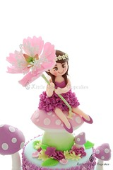 Sweet Flower fairy (Little Cottage Cupcakes) Tags: littlecottagecupcakes birthday cake birthdaycake fairycake fairy fairies flower flowerfairy peony sugarart toadstools pastel wisteria sugarpaste ruffles magical tieredcake