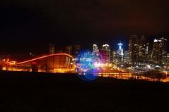 City Lights (soniamcintosh) Tags: hulahoop calgary alberta canada lights nightphotography cityscenes cityscape sony