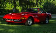 Ferrari Daytona Spyder (scott597) Tags: ferrari daytona spyder spider 365 gts4 red club america fca ohio columbus midohio annual show 2016 meet