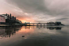 cromer pier at sunset (1 of 1) (allport.colin) Tags: clouds cromer sea seascape storm sunset eastcoast eastanglia reflections pier beach sand