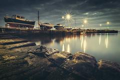 St. Monans Harbour (Iain Brooks) Tags: st monans fife scotland water harbour boats long exposure starburst nikon uk scottish coast night
