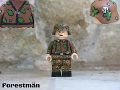 Waffen SS-Scharfhrer Oak leaf cammo, customized LEGO WWII (Forestmn) Tags: lego wwii ww2 customized ss waffen oak leaf