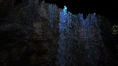 Neda blacklight (Demy.mk) Tags: neda nedafalls falls fallingwater wates river rock blacklight blue running greece peloponese messinia