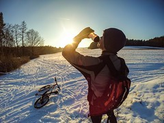 File 21.01.16 21 00 57 (davidsedlacek) Tags: adventure beautyinnature bike cold temperature lensflare mountainbike nonurbanscene snow sunlight tranquilscene wideangle wideshot winter