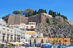 Lipari - looking up at the castle (Sussexshark) Tags: 2016 may holiday vacanza sicily sicilia lipari marinacorta castle view