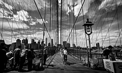 The Bridge That Carries Us Over (Anna Kwa) Tags: brooklynbridge perspective lines sky clouds people moment brooklyn newyork ny usa annakwa nikon d750 afszoomnikkor1424mmf28ged my cross lonely always fate stay travel world seeing heart soul throughmylens life memories