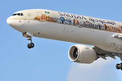 SV0115 JED-LHR (A380spotter) Tags: approach landing arrival finals shortfinals threshold undercarriage landinggear nosegear belly boeing 777 300er hzak28 saudiarabiafamouslandmarks 2015 livery colours decals stickers  godblessyou  saudia sva sv sv0115 jedlhr runway27r 27r london heathrow egll lhr