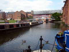 Manchester canal and railway bridge (rossendale2016) Tags: image astounding wild water swimming ducks bridge railway canal manchester