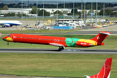 OY-RUE DAT - Danish Air Transport MD-83 Birmingham 25/09/2015 (Tu154Dave) Tags: oyrue dat danish transport md80 md83 birmingham bhx aircraft mcdonnell douglas airport