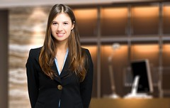 Smiling female receptionist (duhocducvn) Tags: woman receptionist hall hotel business businesswoman secretary leader leadership management manager executive office interior portrait people closeup girl beautiful person company corporate work job employee smiling happy smile positive friendly expression unitedstatesofamerica