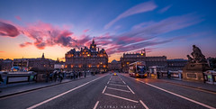 Beautiful Sunset At EdinBurgh (Viraj Nagar) Tags: sunset edinburgh united kindom uk scotland scottish evening dusk colors vibrant clouds cityscape city road urban citylights blue hour