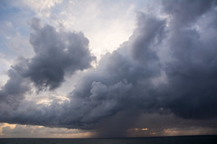 Offshore rain squall (Frank06357 (Family and Friends)) Tags: nc clouds ocean offshore outerbanks rain squall stormy vacation buxton northcarolina unitedstates us