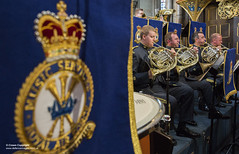 Battle of Britain 75th Anniversary Service at Westminster Abbey (Defence Images) Tags: battleofbritain75thanniversary occasion man identifiable personnel thecentralbandoftheroyalairforce bands raf royalairforce westminsterabbey brass instument performing frenchhorn crest defence defense uk british military ruislip middlesex unitedkingdom