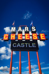 (259/366) Mars Cheese Castle (CarusoPhoto) Tags: mars cheese castle sign classic iconic sky cloud clouds john caruso carusophoto photo day project 365 366 wisconsin kenosha iphone 6 plus