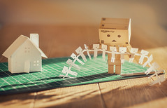 Danbo and the art of paper crafting (Matt_Briston) Tags: house way paper this robot do dolls time knife taken mat cutting much too papercraft danbo catmacbride