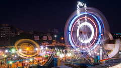 Pune city - Night (Gladson777) Tags: life park city bridge people india wheel festival night river landscape fun lights evening long exposure bokeh circus sony trails entertainment maharashtra rides alpha mutha baba pune thrill deccan a58 ferrys bhide gadgil sambhaji