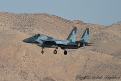 64th Aggressor Eagle (JetImagesOnline) Tags: red fighter force eagle flag air jet douglas base 152 afb mcdonnell f15 64th nellis aggressor f15c 64agrs