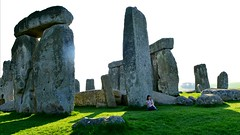 Stonehenge (SunflakeGirl) Tags: travel england architecture circle outdoors see ancient paradise peace stones dream like tranquility sunny it cant believe stonehenge adventures healing until magnificent 8am centuries sarson bluestones i milleniums