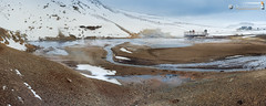 The geothermal area Krsuvk (dieLeuchtturms) Tags: panorama island iceland europa europe vulcano vulkan quelle 5x2 krsuvk fumarole suurland hfuborgarsvi reykjanesskagi