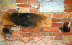 "not ""just another brick in the wall"" (HansHolt) Tags: wood venice brick texture wall plaster beam venezia burned hout muur baksteen veneti balk verbrand olympusmju9010 olympusstylus9010"