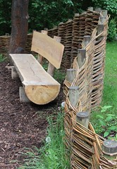 (Gerlinde Hofmann) Tags: germany bench town handmade thuringia basketry hildburghausen