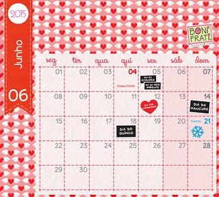 Calendário de Junho :: 2015 • BoniFrati