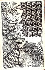 Pangaea Breaks (molossus, who says Life Imitates Doodles) Tags: zia inc rhodia clairefontaine zentangle zendoodle exaclair zentangleinspiredart