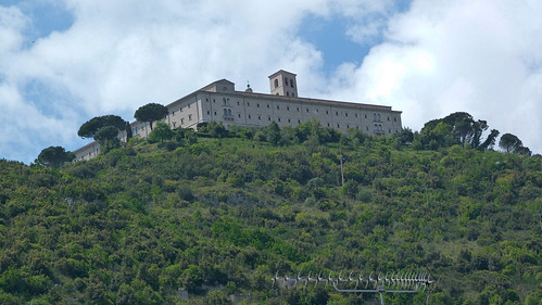 Monte Cassino - the abbey from our hotel