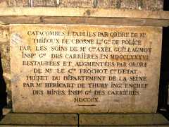 The Catacombs (lukedrich_photography) Tags: sony dscw55 sonydscw55 history culture paris       france       francia frankreich europe european europa     frenchrepublic rpubliquefranaise westerneurope  catacombs catacombes ossuary ossuaries remains grave mine tunnel underground cemetery parismusees crypt mausoleum plague death dead marker