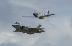 Flying Legends at RIAT (Liam Chambers) Tags: new old tattoo usmc air royal airshow international planes mustang raf stol vtol fairford p51 riat f35 flypast