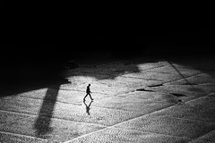 We walk alone (JuNu_photography) Tags: dark darkness alone man walking walk bw loneliness journey depression depressed innamoramento darktimes humanity