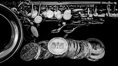 Silver Sax & Silver Stacks (JokerMan45678) Tags: saxophone silver ag rmc republic metals stacker stack soprano curved wealth smartphone samsung art 999fs 999 fine sax woodwind sexy elegant elegance sophistcated enlightened enlightenment 1oz pure purity assay trusted curvy keys product troy ounce reflection reflective nightmare dreamy money comex getty invest investment
