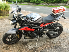 (willdashsuttondotcom) Tags: street bridge camping net beer bar scotland long day tour engine mirrors scottish cargo motorbike r triumph end motorcycle cans crate spar rg triple touring protector lagar lager essentials sliders spean speanbridge 675 budwiser cargonet streettripler 675r