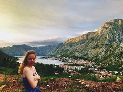 Near the Kotor city (annabochkareva) Tags: jadran adriatic balkans photography chilling evening clouds sky nature clean pure view crazy kotor montenegro crnagora mountain mountains girl