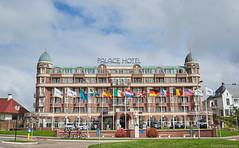 Dutch seaside resort architecture (PaaulDvD) Tags: noordwijk beach resort palace sea architecture building flags