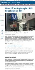 diepresse.at: Neuer Lift am Stephansplatz: VP bittet Hupl um Hilfe (bizeps) Tags: stephansplatz ubahn wienerlinien 2016 medien erwhnung erwhnungen bericht presse pressemeldung pressemeldungen